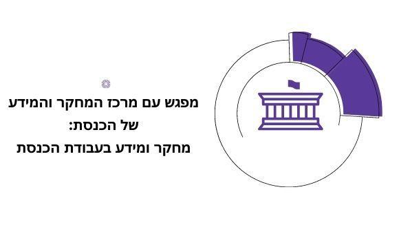 """""""מחקר ומידע בעבודת הכנסת"""" - מפגש עם מרכז המחקר והמידע של הכנסת (ממ""""מ)"""