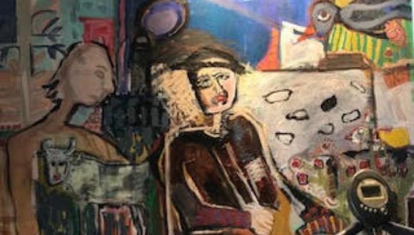"""תערוכה: ADHD """"המלווה הנסתר שלי"""" - ציורים בטכניקות מעורבות"""
